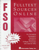 Fulltext Sources Online January 2000