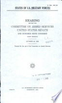Status of U S  Military Forces Book