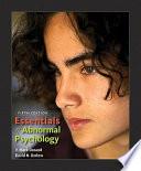Essentials Of Abnormal Psychology Book