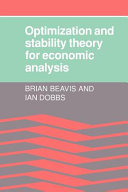 Optimisation and Stability Theory for Economic Analysis