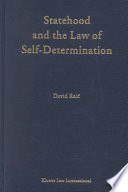 Statehood And The Law Of Self Determination