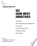 Structure of Six Farm Input Industries