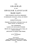The grammar of the English language made easy