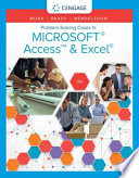 Cover of Problem Solving Cases In Microsoft Access & Excel