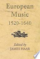 European Music  1520 1640 Book
