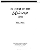 In Quest of the Universe Book