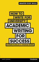 How to Write for University eBook PDF