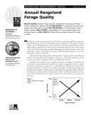 Rangeland Management Series: Annual Rangeland Forage Quality