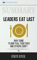 Summary  Leaders Eat Last Book
