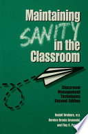 Maintaining Sanity In The Classroom Book