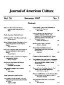 Journal of American Culture Book PDF