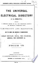 J A Berly S Universal Electrical Directory And Advertiser