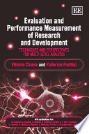 Evaluation and Performance Measurement of Research and Development