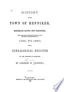 History Of The Town Of Henniker Merrimack County New Hampshire Book PDF