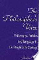 Philosopher s Voice  The Book