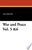 War and Peace Vol  5  6 Book
