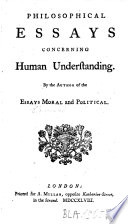 philosophical essays concerning human understanding david hume philosophical essays concerning human understanding