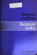 Diabetes Mellitus Literature Index Book