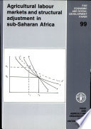 Agricultural Labour Markets And Structural Adjustment In Sub Saharan Africa