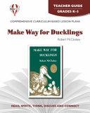 Make way for ducklings by Robert McCloskey: teacher guide