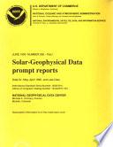 Solar geophysical Data Book PDF