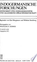 Indogermanische Forschungen