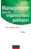 Management dans les organisations publiques - 4e édition