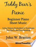Teddy Bear s Picnic Beginner Piano Sheet Music