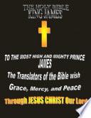The Holy Bible King James Kjv Original Version 1611