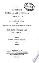 The Edinburgh Medical And Surgical Journal Book
