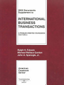 2003 Documents Supplement to International Business Transactions