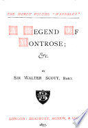The Handy Volume Waverly A Legend Of Montrose C