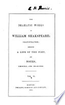 The dramatic  poetical  works of William Shakspeare  illustr   embracing a life of the poet and notes Book