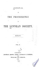 Journal of the Proceedings of the Linnean Society Book
