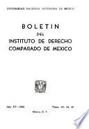 Boletín del Instituto de Derecho Comparado de México