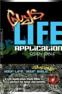 Guys Life Application Study Bible NLT Book