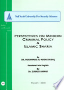 Perspectives On Modern Criminal Policy Islamic Sharia