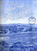 The Journal of the Department of Agriculture of South Australia