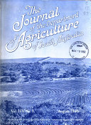 The Journal of the Department of Agriculture of South Australia Book