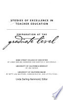 Studies of Excellence in Teacher Education