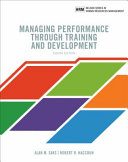 Cover of Managing Performance Through Training and Development