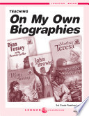 On My Own Biographies Teaching Guide Book PDF