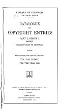 Catalog Of Copyright Entries Book PDF