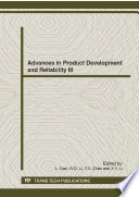 Advances In Product Development And Reliability Iii Book PDF