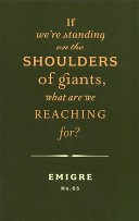 If We're Standing on the Shoulders of Giants, what are We Reaching For? ebook