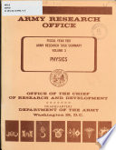 Army Research Task Summary  Physics