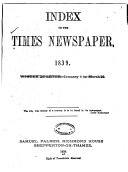 Palmer s Index to  The Times  Newspaper