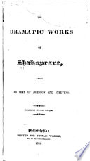 The Dramatic Works of Shakspeare Book