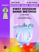 First Division Band Method, Part 4 for E-Flat Alto Clarinet
