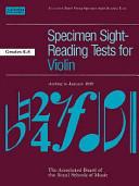 Specimen sight-reading tests for violin
